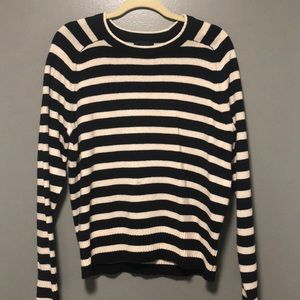 Black & Cream Wool Sweater